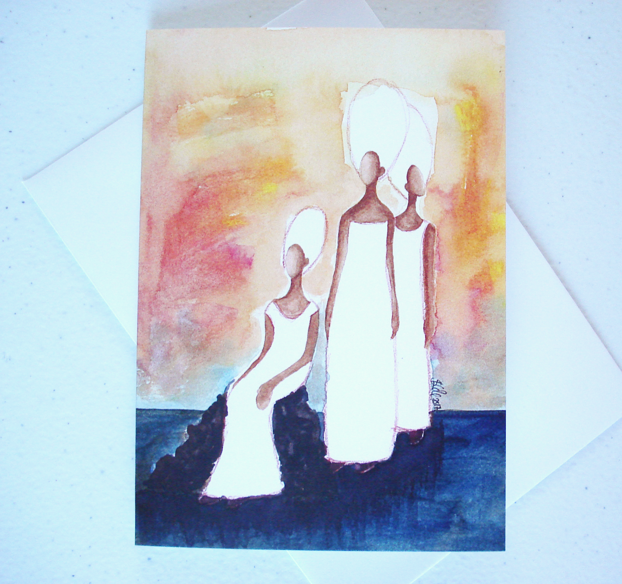 Watch Women Greeting Card by Stacey-Ann Cole