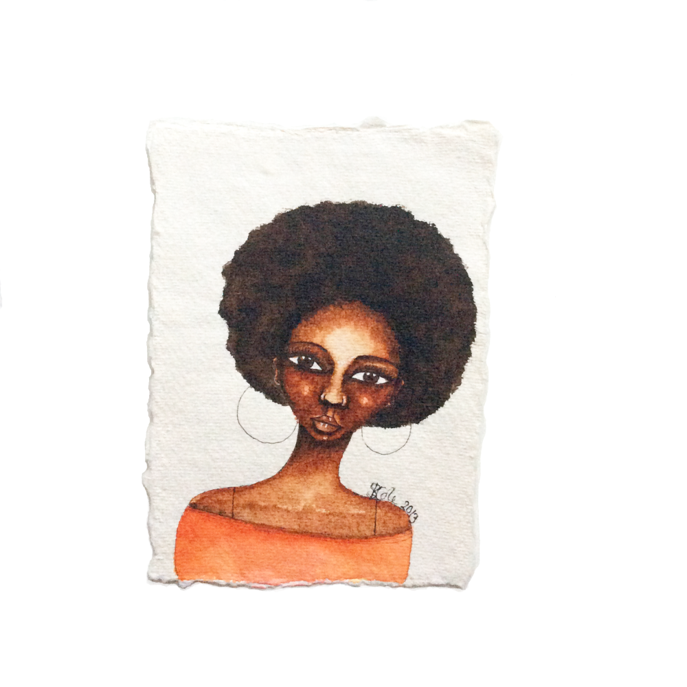 Original Watercolour Artwork for Sale | Black Artwork | 'She Knew' by Stace