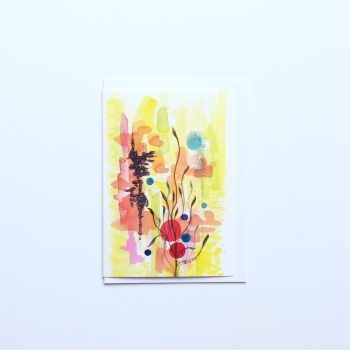 Watercolour Abstract 'Japanese Garden' Greeting Card