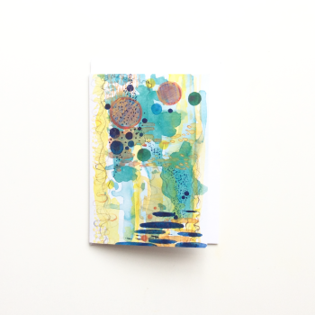 Watercolour Abstract 'Tide Pool' Greeting Card