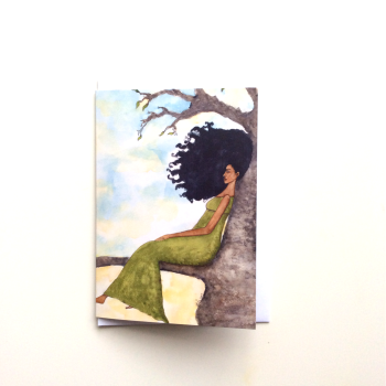 Afrocentric | African | Black Greeting Card 'Presence'