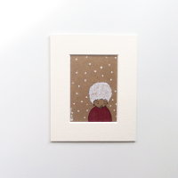 Small Original Drawing on Kraft Card 'Forlorn' Artwork