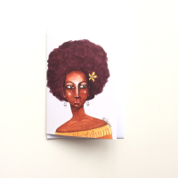 Black African Caribbean Greeting Card 'At First Glance'