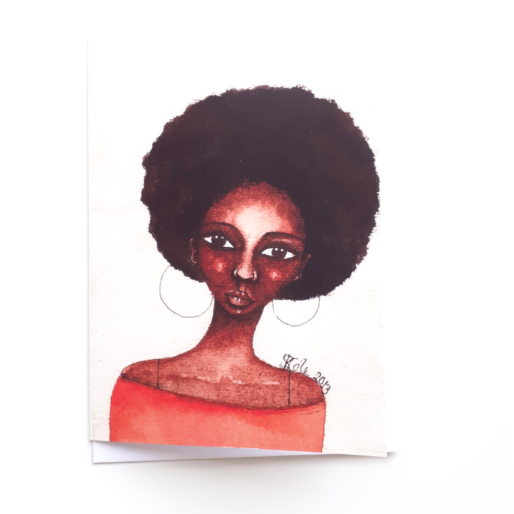 Afrocentric Greeting Card 'She Knew' | Black Women | Friendship | Birthday
