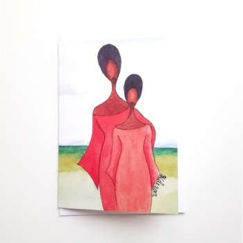 Black Greeting Card for Mums | Mother | 'Mother's Pride'