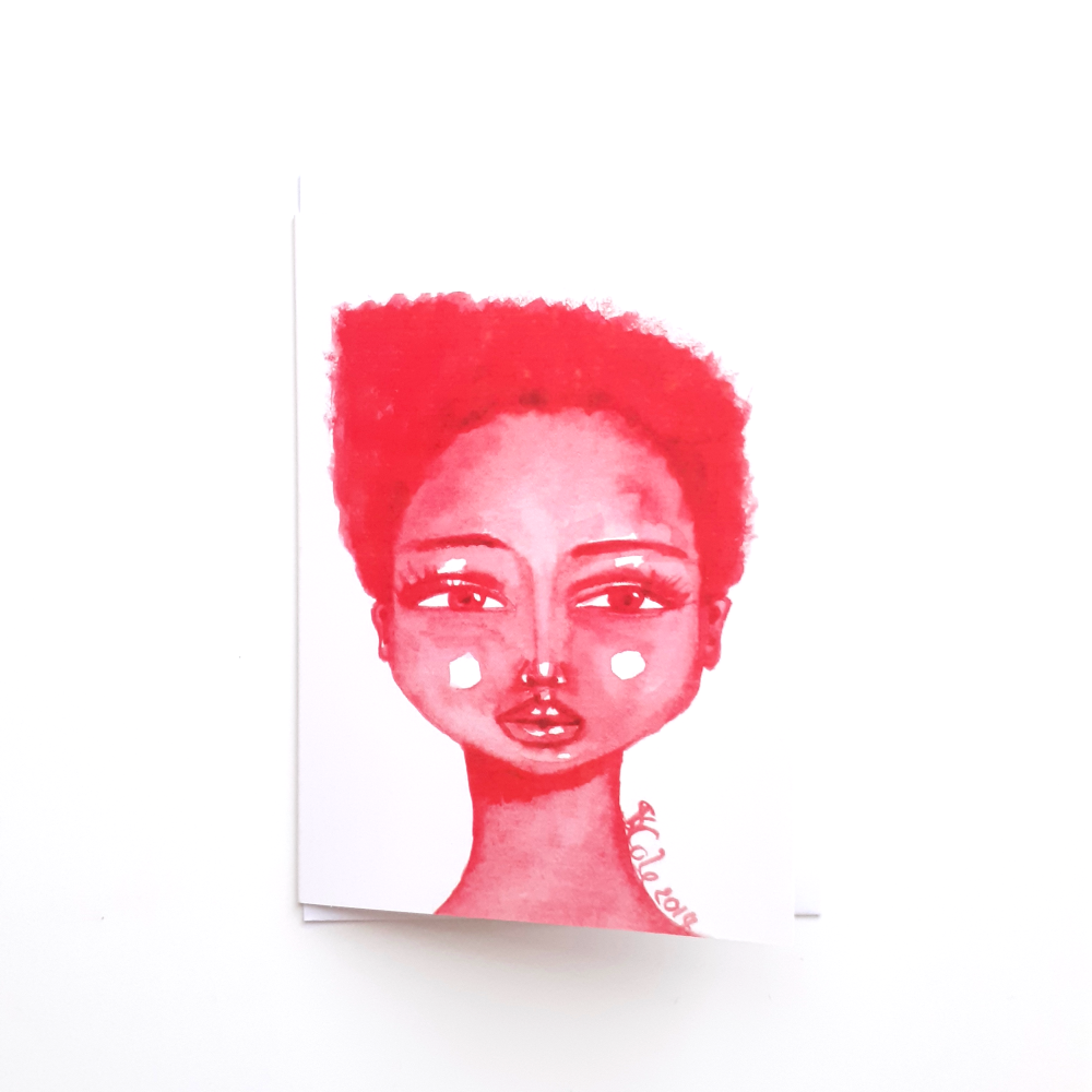 Black Greeting Card for Black Women 'Little Red'