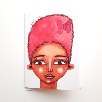 Birthday Card for Black Women 'Pretty Bow' | Black Greeting Cards UK