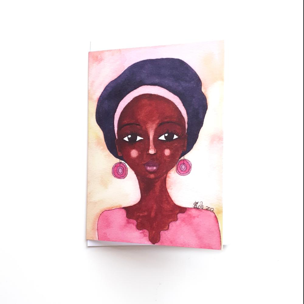 Black Woman Birthday Card 'Quiet Joy'
