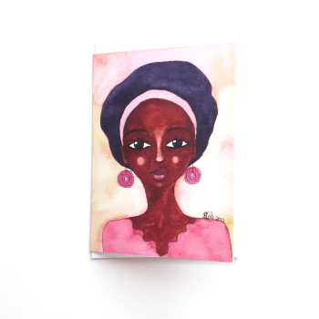 Black Woman Birthday Card 'Quiet Joy'