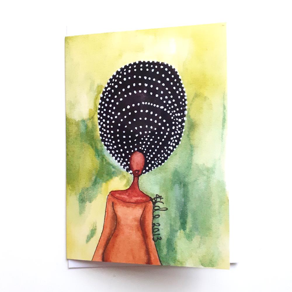 Black African Caribbean Birthday Card 'Self Awareness'