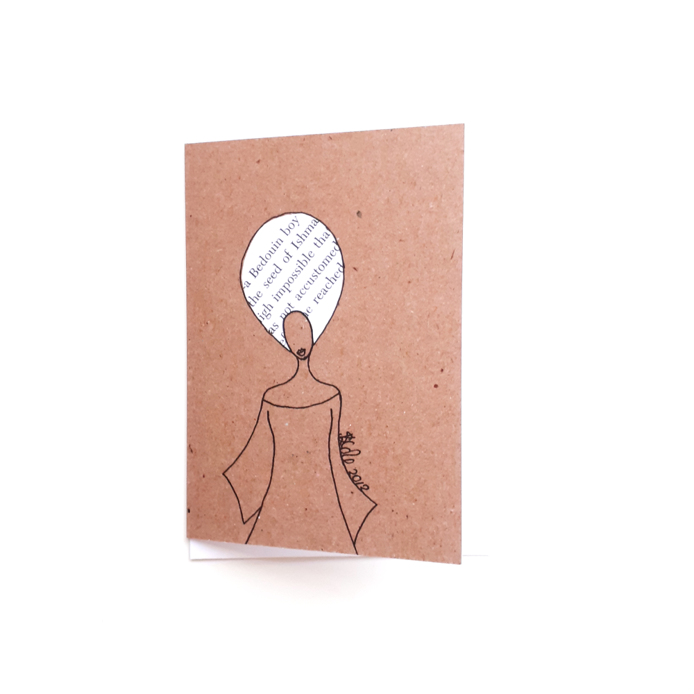 Black Greeting Card | Black Women Birthday Card 'Word Afro'