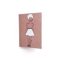 UK Black Woman Greeting Card 'Word Skirt' | Black Greeting Cards