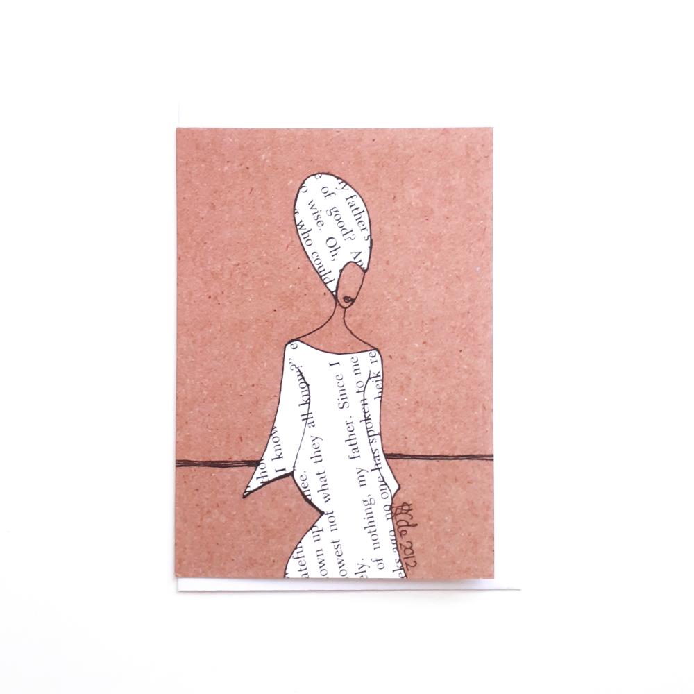 Black Woman Greeting Card 'Kaftan'