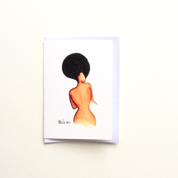 Black African 'Afro Allure' Greeting Card