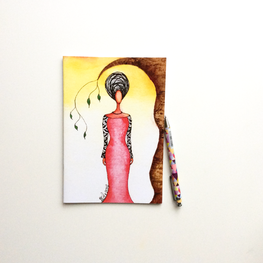 Illustrated Notebook | Black Christmas Gift | Black Women Notebook | 'Sanct