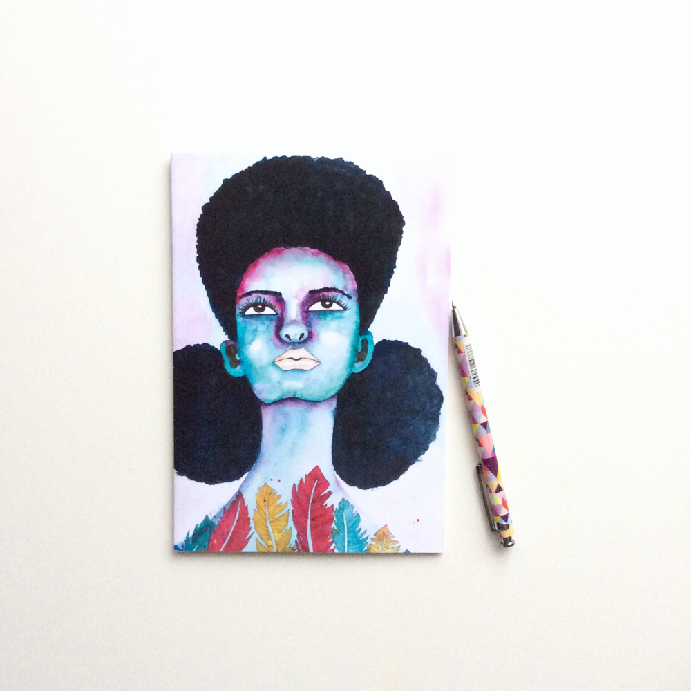 Notebook | Afrocentric Christmas Gifts | Illustrated Notebook - 'Still Risi
