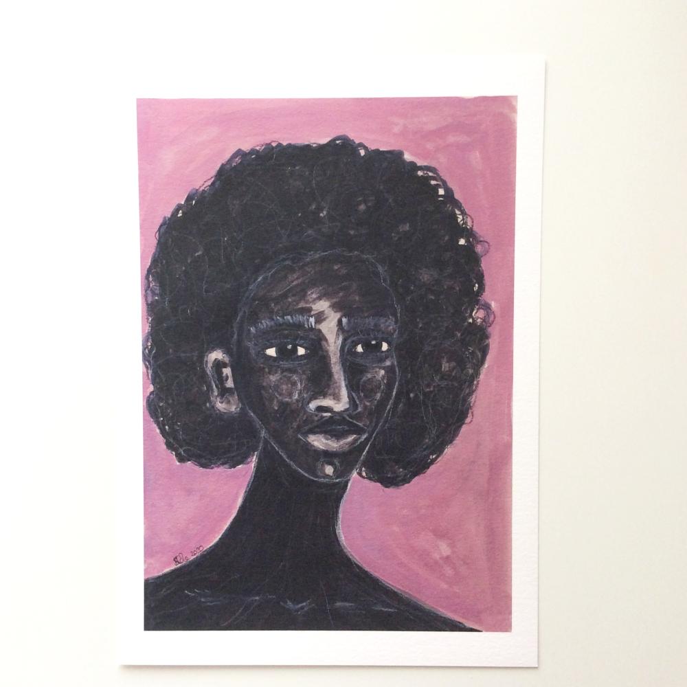 Afro Caribbean Artwork Print 'Stronger Now', A4 Size, Unframed