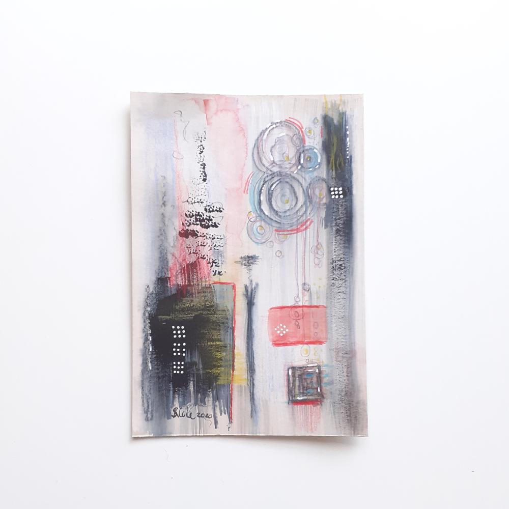 Original Mixed Media Abstract Art - 'Pendulum' (Unframed)
