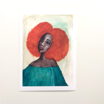 African American Artwork Print 'New Dawn', A4 Size, Unframed