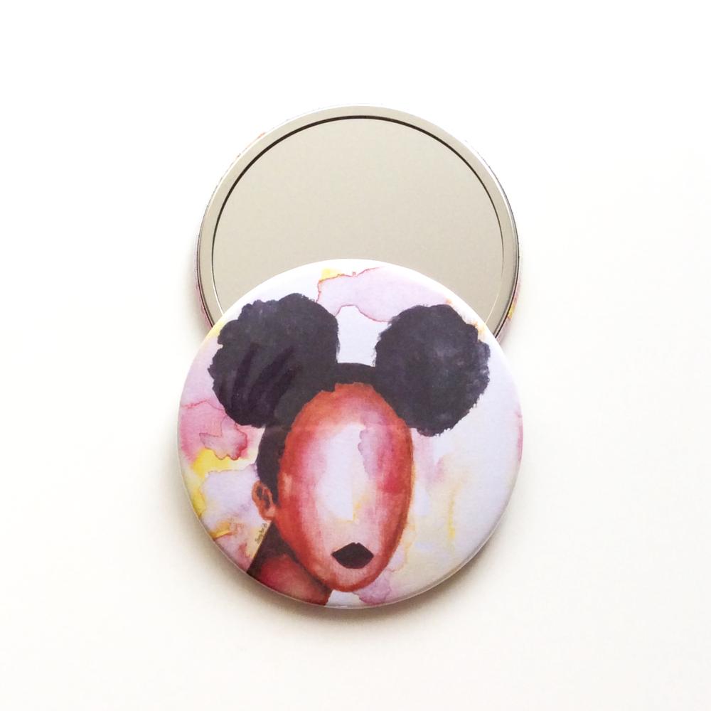 'Self Love' Pocket Mirror | Black Art & Gifts | 76mm