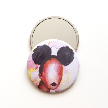 'Self Love' Pocket Mirror | Black Art & Gifts | 76mm