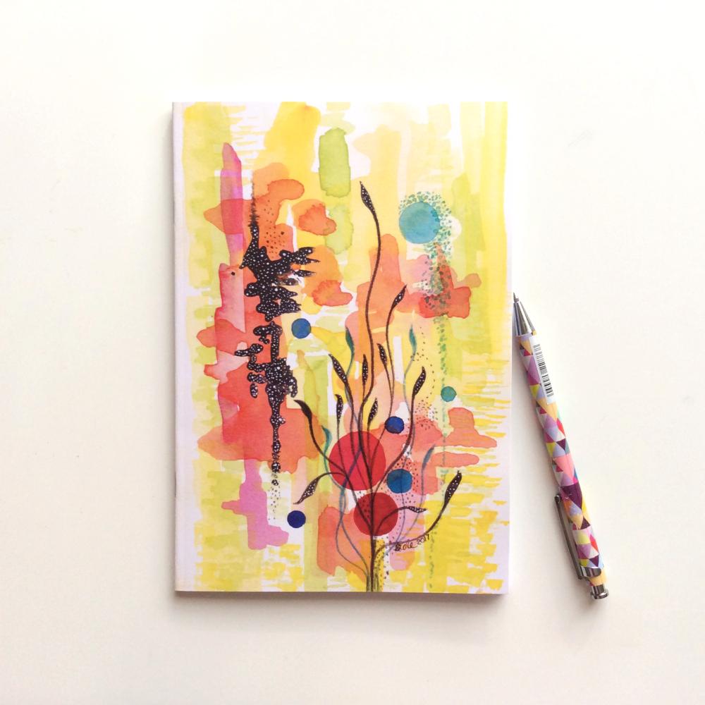 NOTEBOOK - 'Japanese Garden' | Watercolour Abstract Notebook | Gift