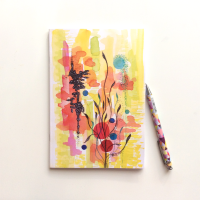 NOTEBOOK - 'Japanese Garden' | Watercolour Abstract Notebook | Gift