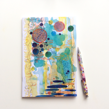 NOTEBOOK - 'Tide Pool' | Watercolour Abstract Notebook | Self Care Gift