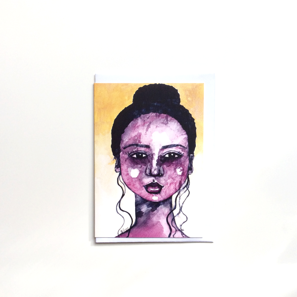 Black African 'Beautiful Imperfections' Greeting Card