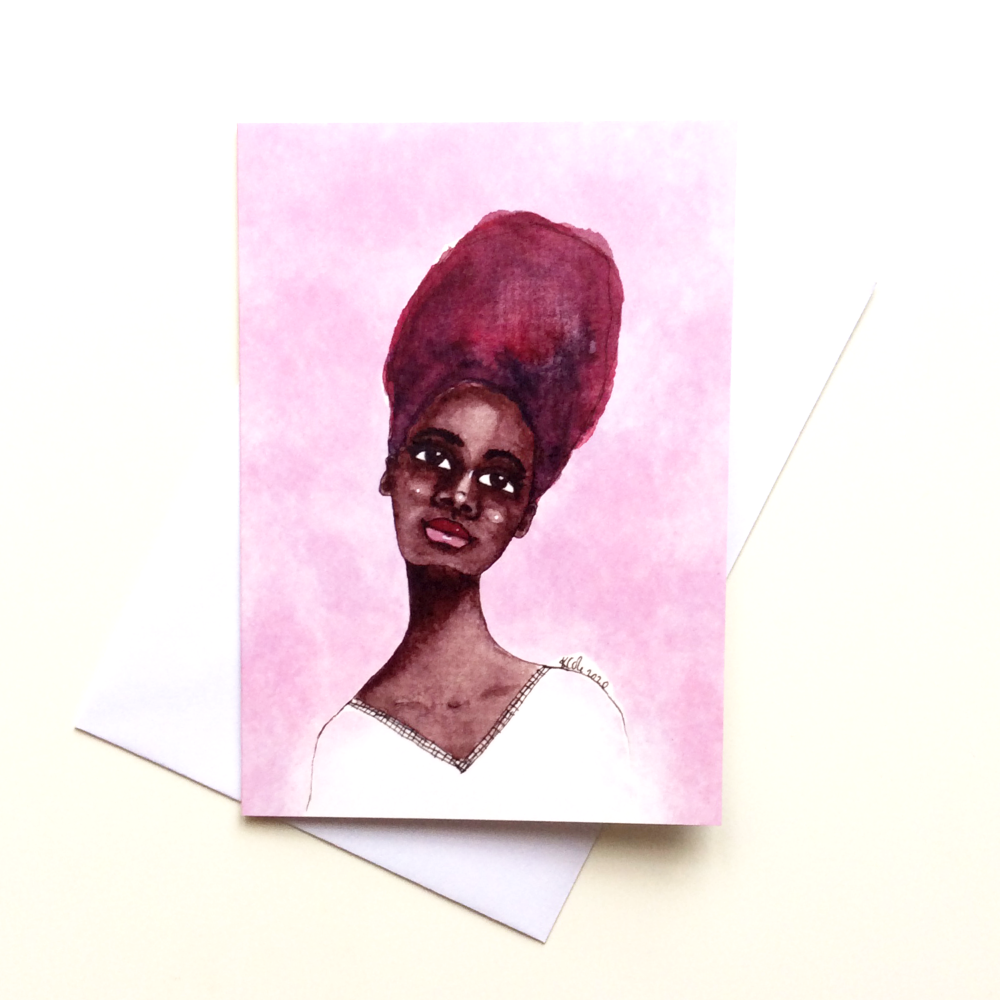 Afrocentric | African Caribbean | Black Greeting Card 'Ebonie'
