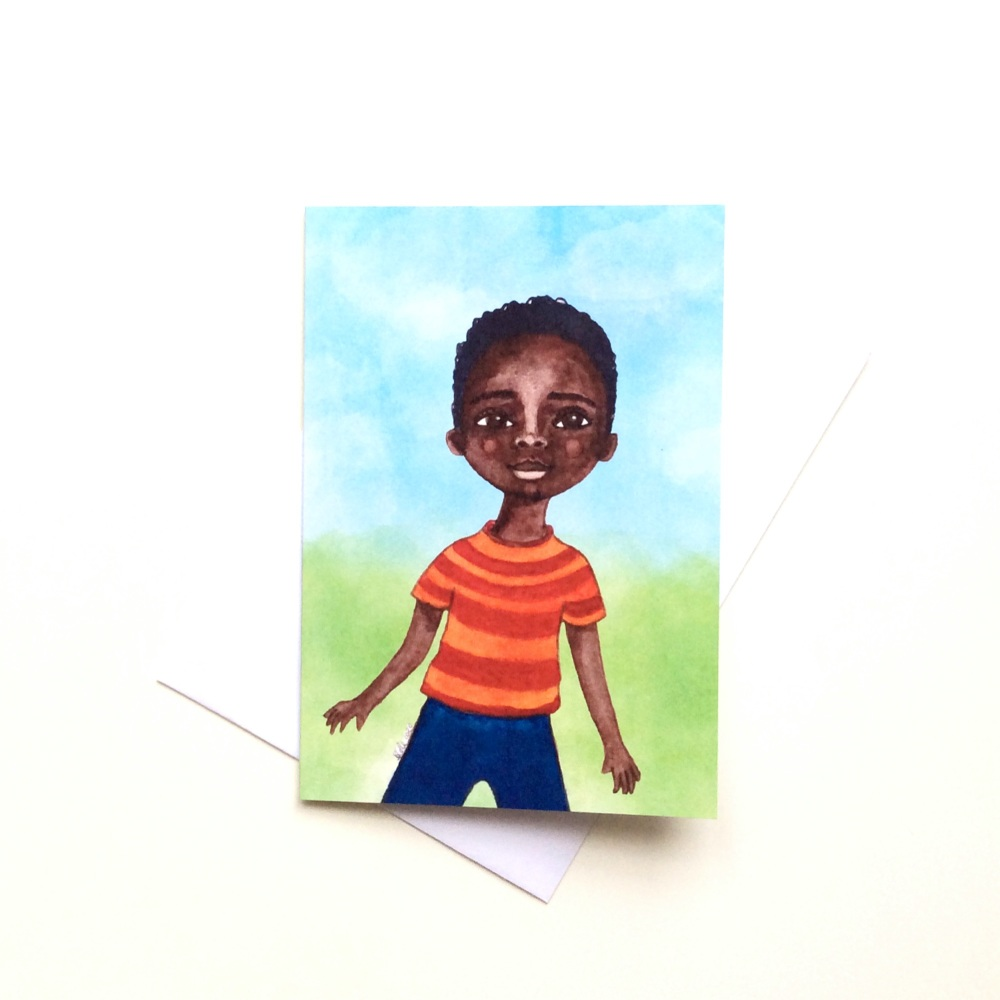 Children's All Occasions Card | Black Boy Greeting Card | African Caribbean