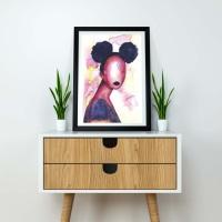 Black Artwork | Wall Art Print 'Self Love' | A4 Size | Approx. 11.7