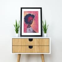 Black Woman Art Print | 'Worthy' | A4 Size | Approx. 11.7