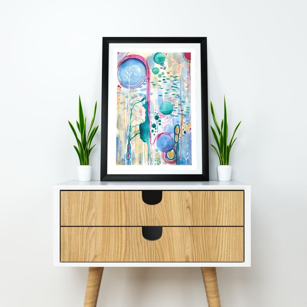 "ABSTRACT FINE ART GICLÈE PRINT - 'New Life' | Size A4 - 11.7"" x 8.3"" | Unframed"