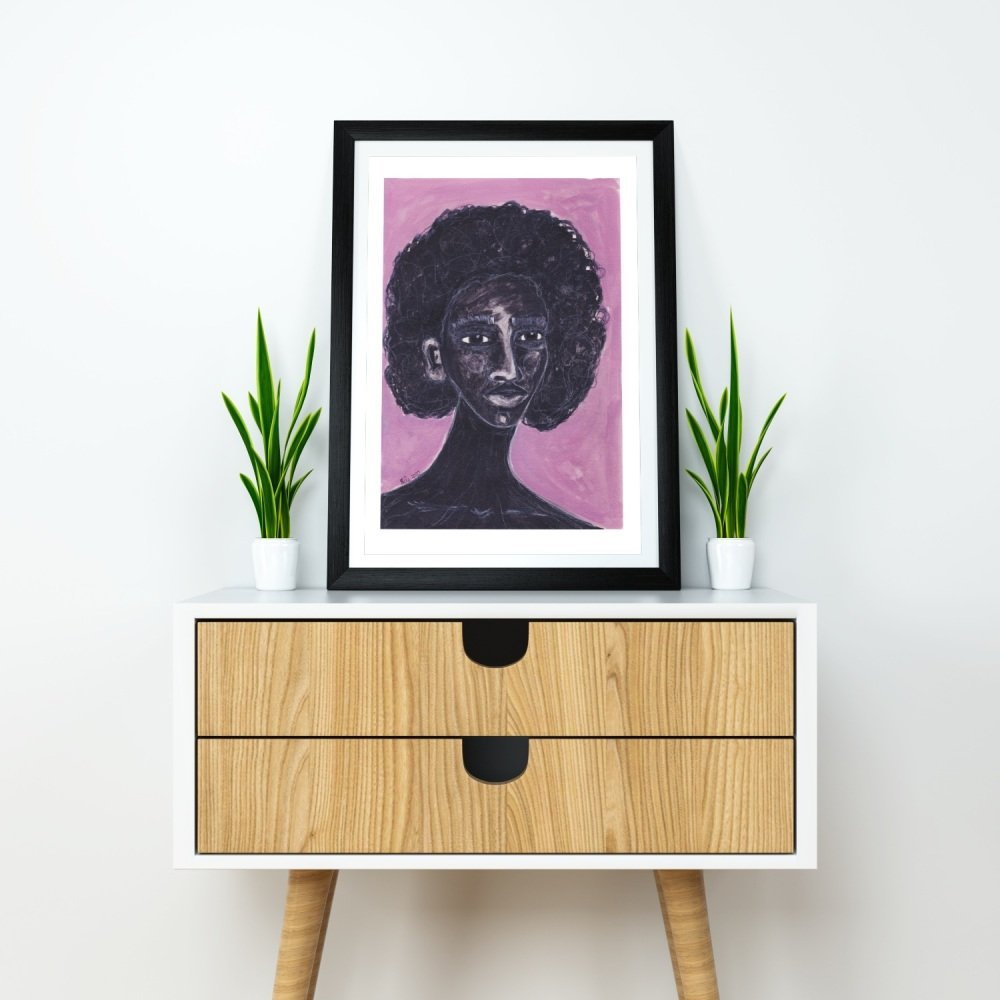 Afro Caribbean Artwork Print 'Stronger Now', A4 Size, Unframed