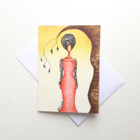 Black Woman Greeting Card 'Sanctuary'