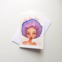 Black Woman Birthday Card UK 'You Are Loved'