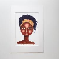 BLACK WOMEN ARTWORK PRINT 'So Natural' | 7
