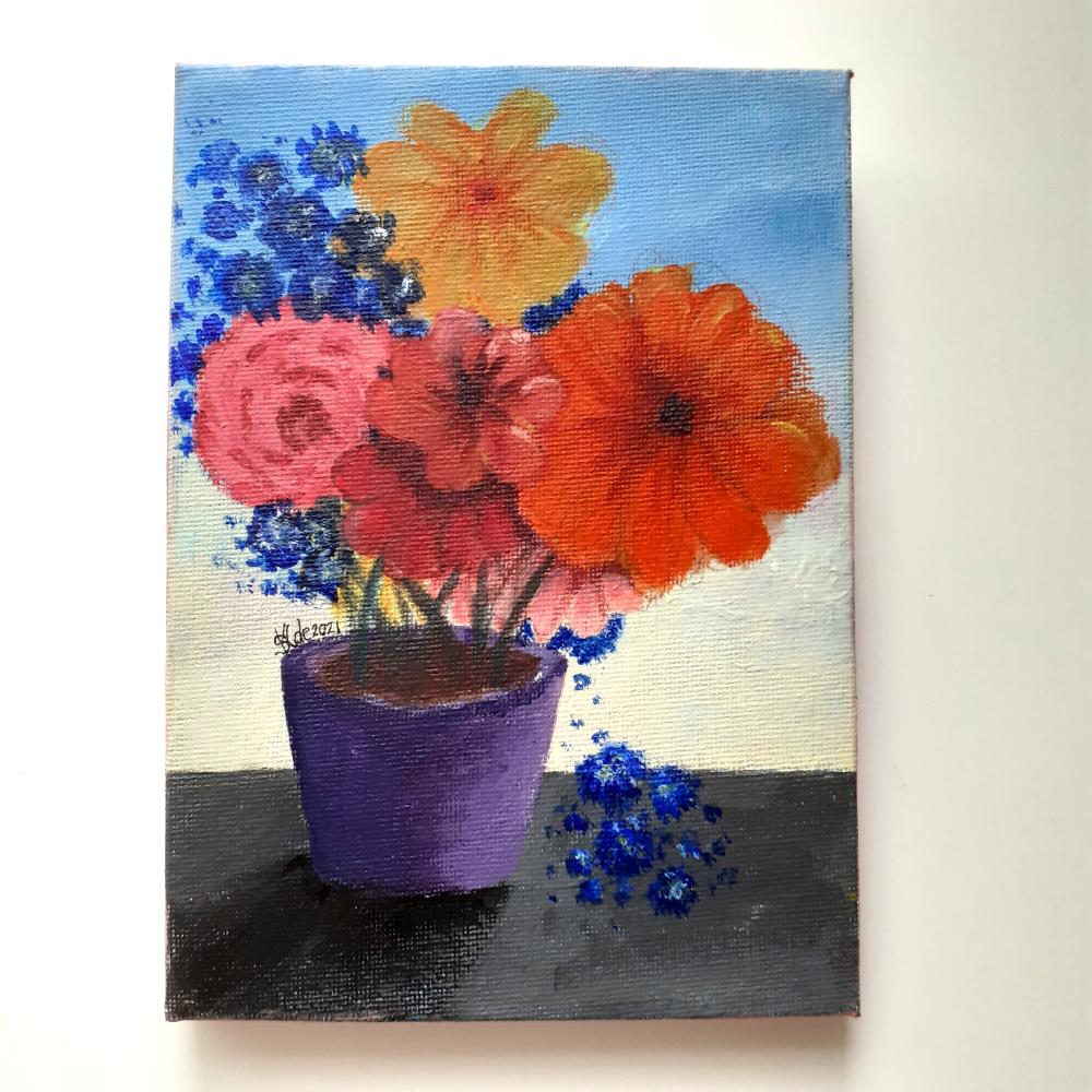 Original Acrylic Painting on Canvas - 'Fragrant Bouquet'