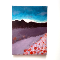Original Acrylic Painting on Canvas - 'Meadow at Dusk'