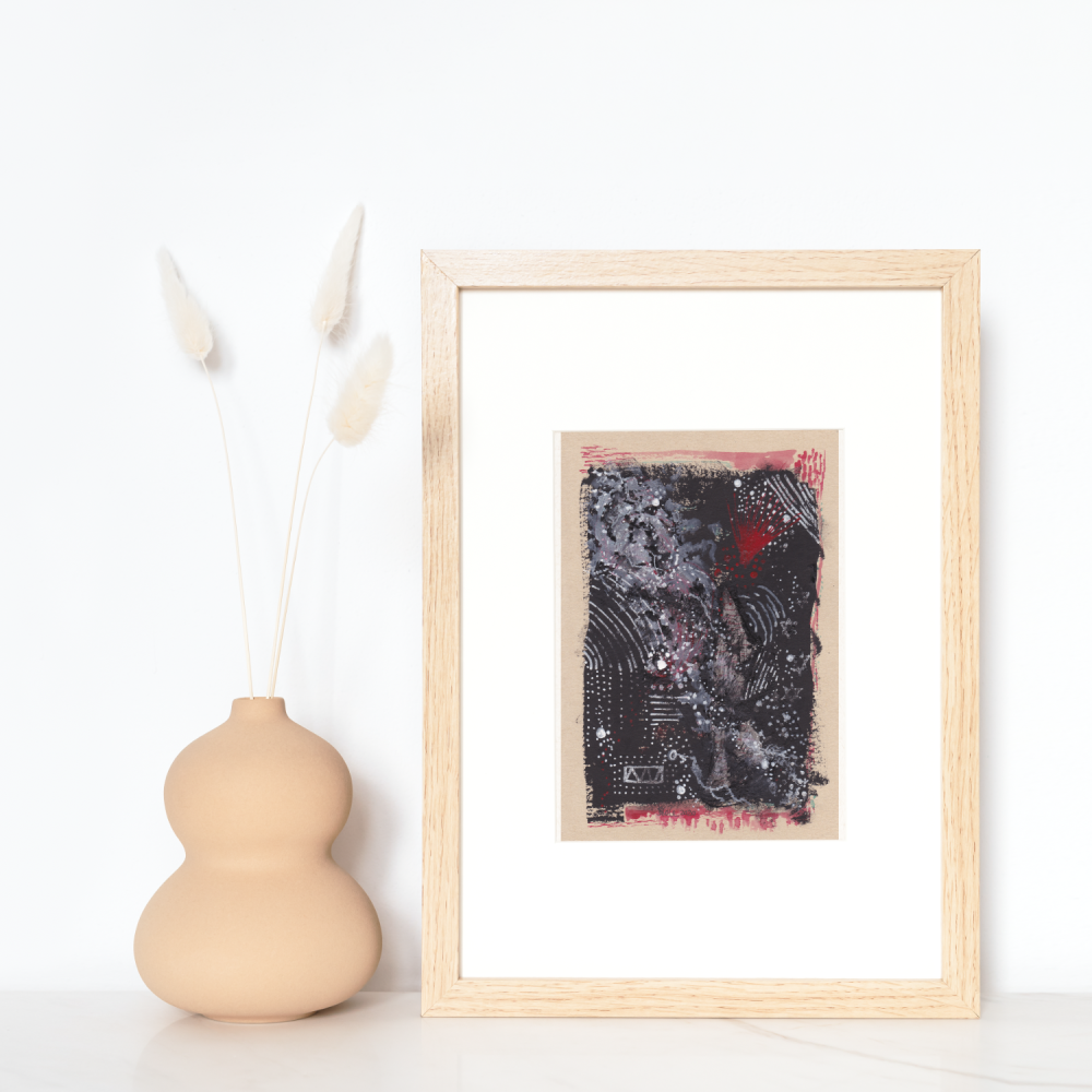 Abstract Mixed Media Art | Wall Art and Home Decor 'Star System' (Unframed)