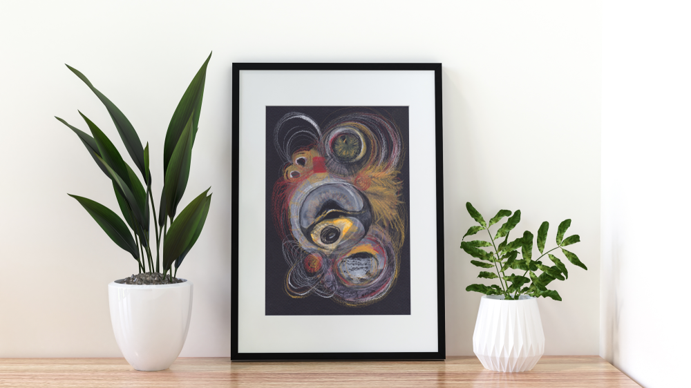 Original Mixed Media Abstract Artwork 'Eye of the Beholder' | Wall Art | Home Decor | Unframed