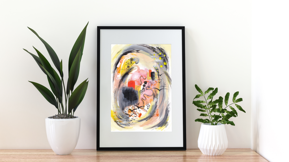 Original Mixed Media Abstract Painting by Contemporary Artist Stacey-Ann Cole - 'Migration'