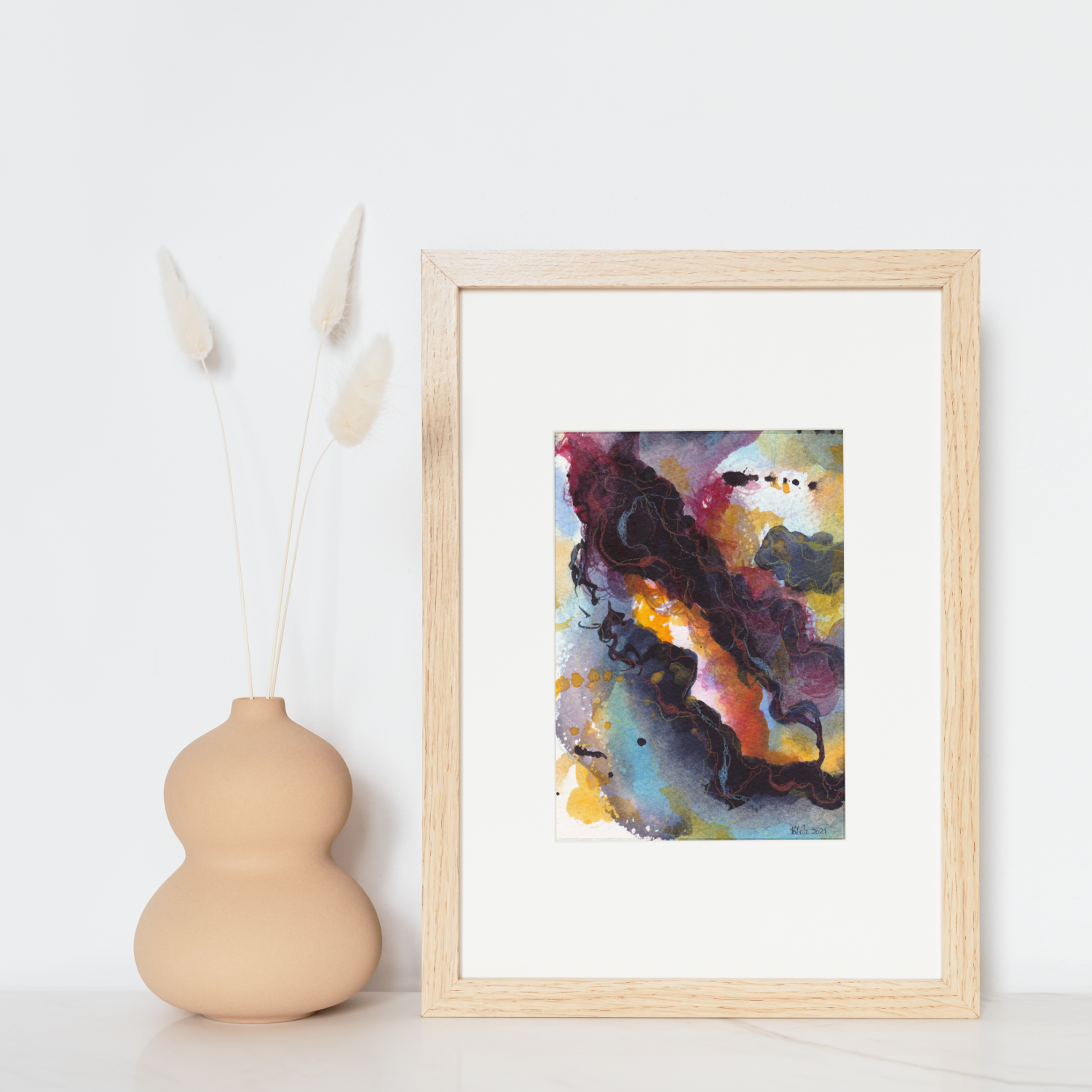 'Slipstream I' Original Watercolour Abstract by Stacey-Ann Cole