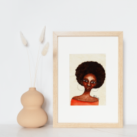 Original Art | Black Art Paintings | Figurative Art 'She Knew' by Stacey-Ann Cole