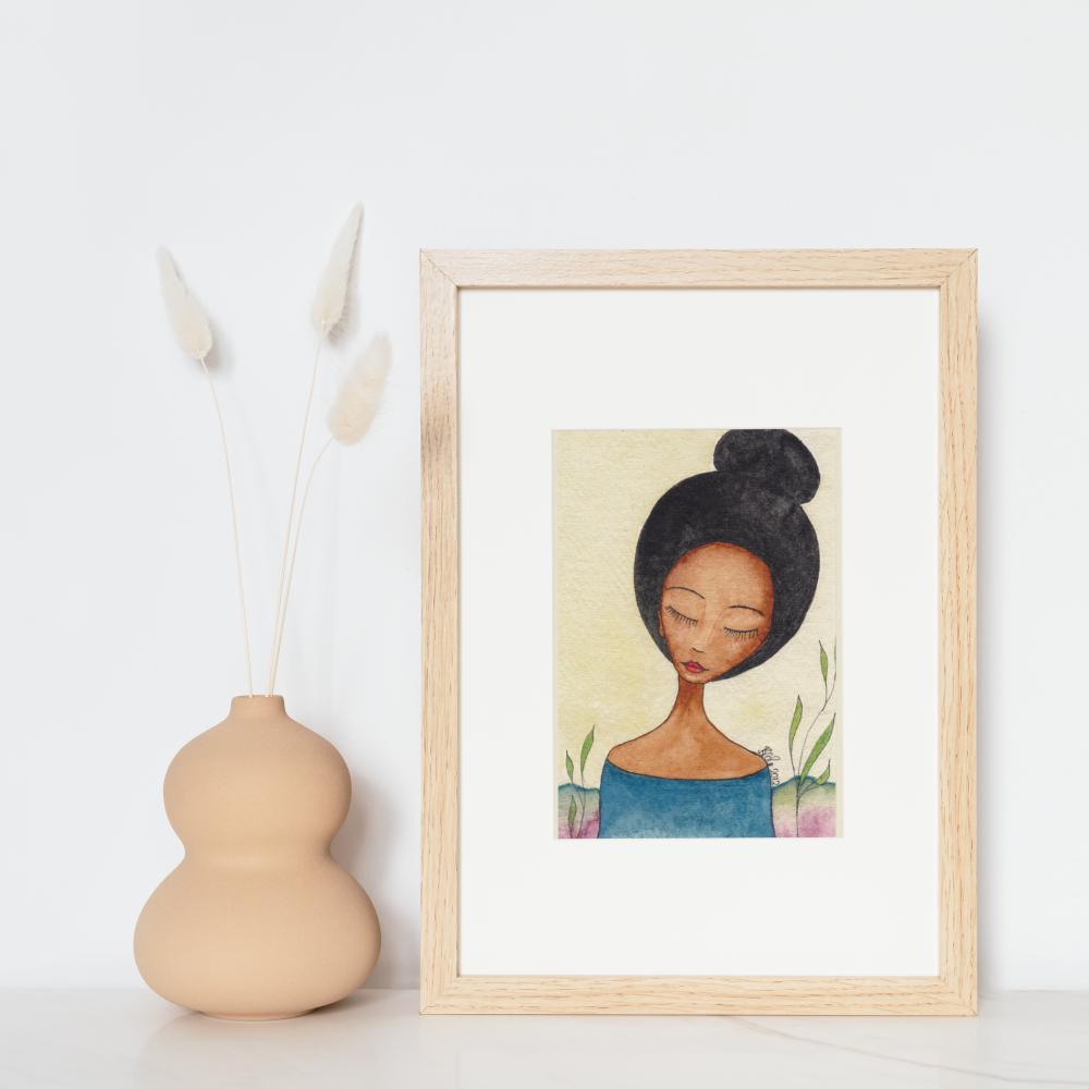 Original Art | Black Art Paintings | Figurative Art 'Orient' by Stacey-Ann Cole