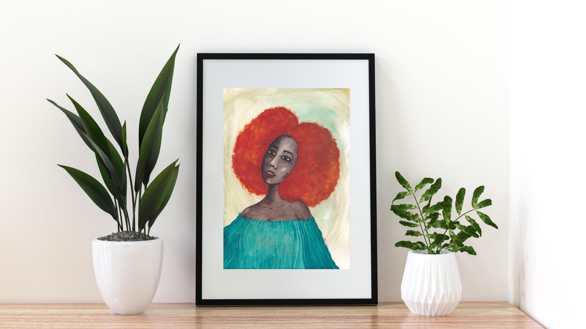 'New Dawn' A4 Art Print by Stacey-Ann Cole Art