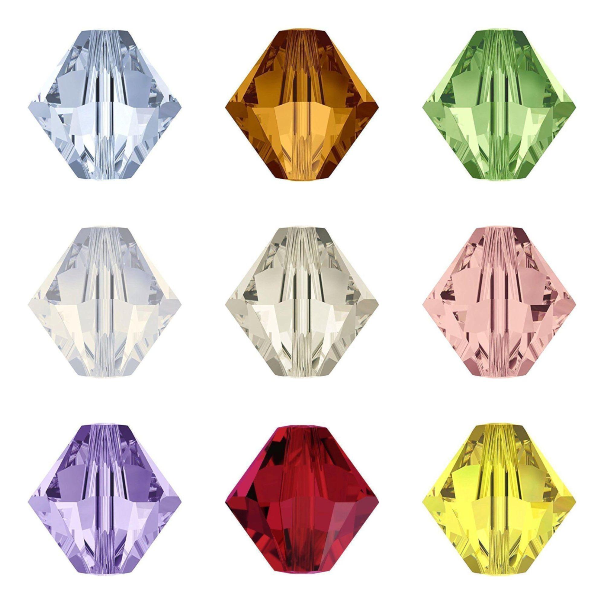 Swarovski Bicone Crystal Colour Samples