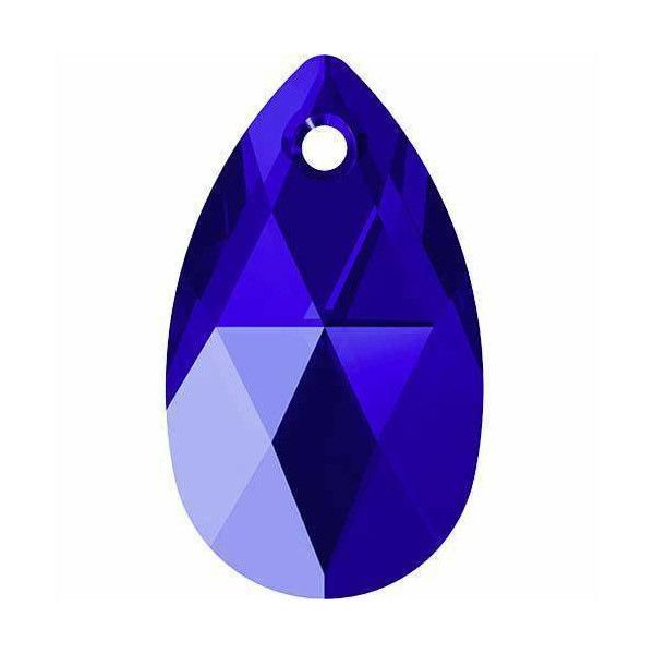 Blue & Green Pear Drop Crystal Colours