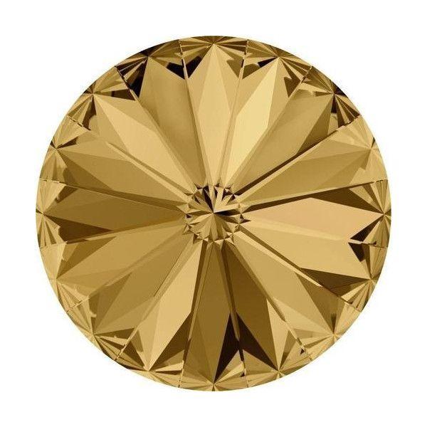Yellow & Brown Rivoli Crystals